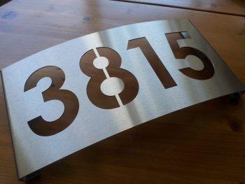 huisnummerbord voordeur rvs 1mm dik