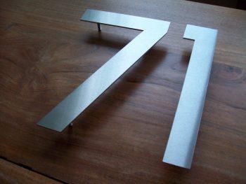 Huisnummers losse cijfers