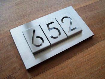 huisnummerbord voordeur B-01-A3