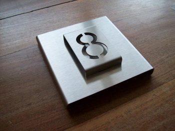 Huisnummerbord voordeur B-01-A1