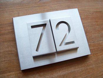 Huisnummerbord voordeur B-01-B2