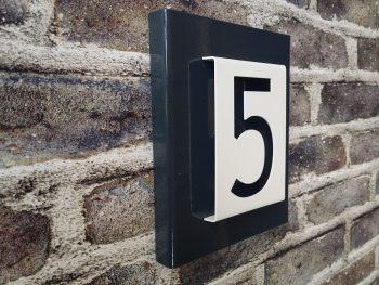 Number2Go huisnummerbord 1 cijfer Modern RAL7016 antraciet 2