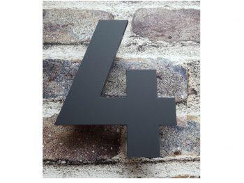 Acryl huisnummers Antraciet 4mm dik